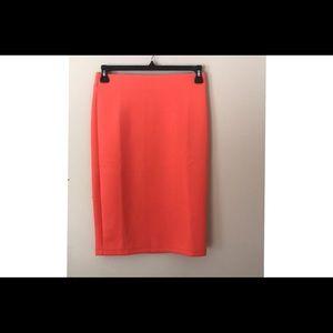 Catherine Malandrino Orange pencil skirt size 4